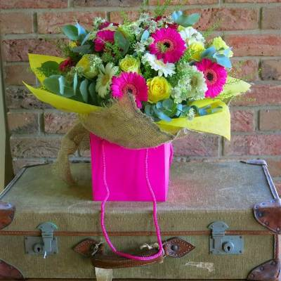 Vibrant Hessian Bouquet