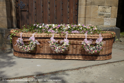 Pastel Pink Large Casket Spray