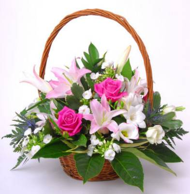 Rose Blush Basket